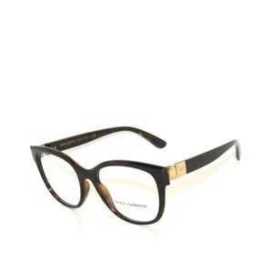 Dolce Gabbana  5040 502 54 Brown Gold Eyeglasses